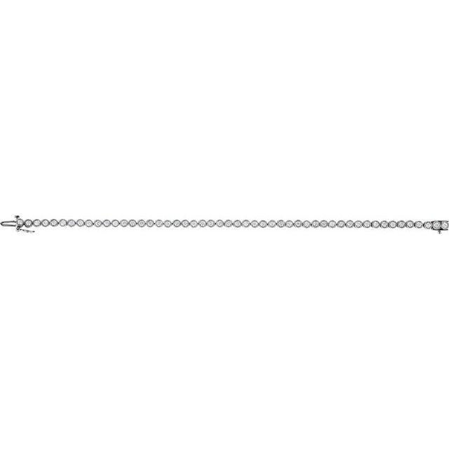 14K White 2 CTW Natural Diamond Line 7.25