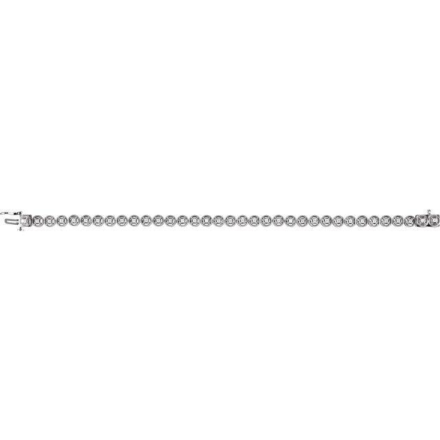 14K White 1/2 CTW Diamond Line 7.25