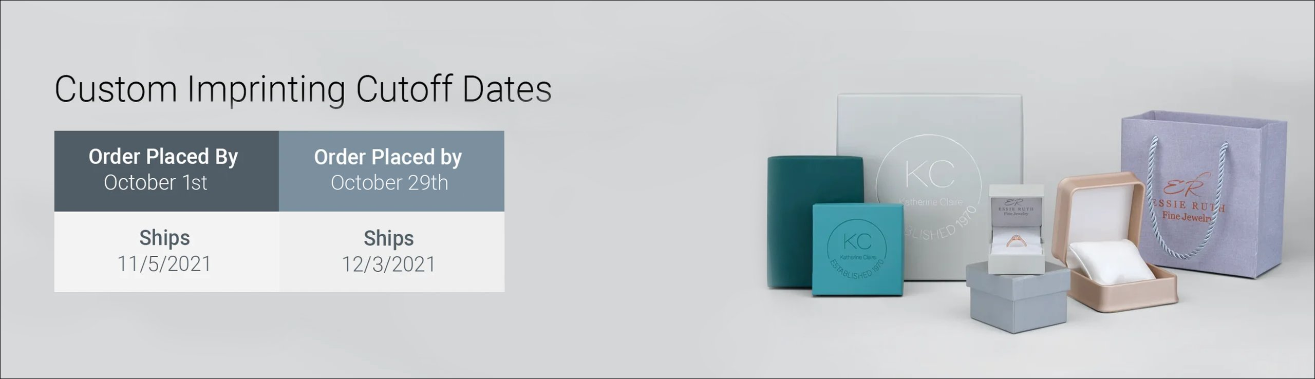 Custom Imprinting Cutoff Dates | Orders placed by October 1st ship November 5th. Orders placed October 29th ship December 3rd