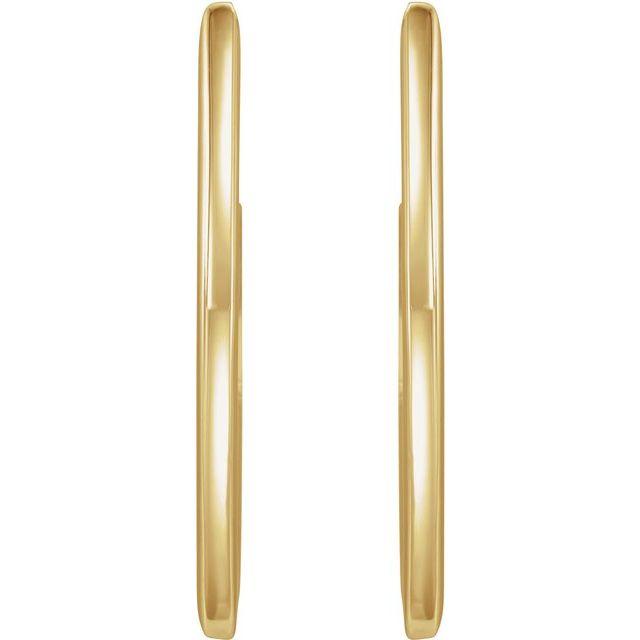 14K Yellow 26 mm Geometric Hoop Earrings