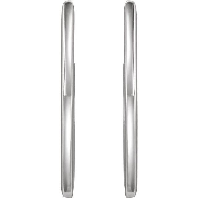Sterling Silver 26 mm Geometric Hoop Earrings