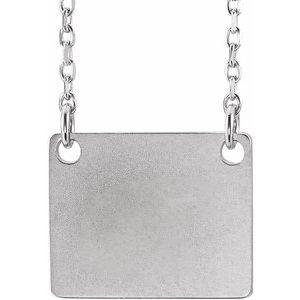 "14K White Geometric 18"" Necklace"