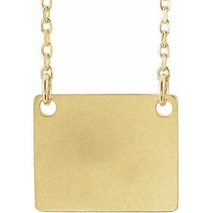 """18K Yellow Gold-Plated Sterling Silver Geometric 18"""" Necklace"""