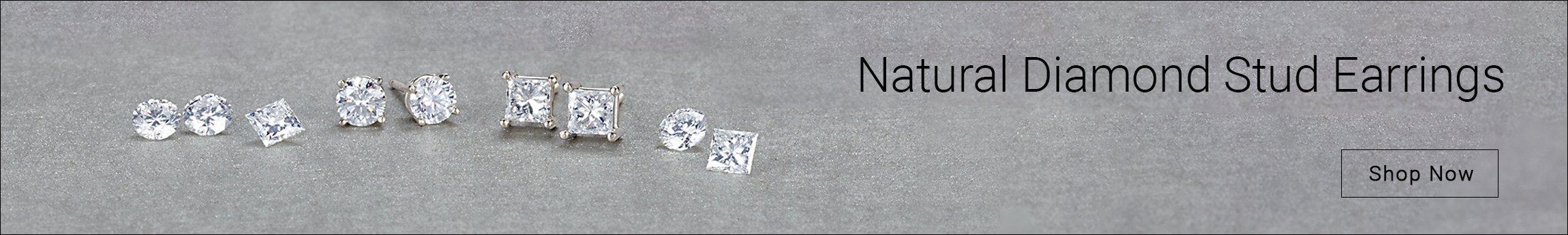 Natural Diamond Stud Earrings