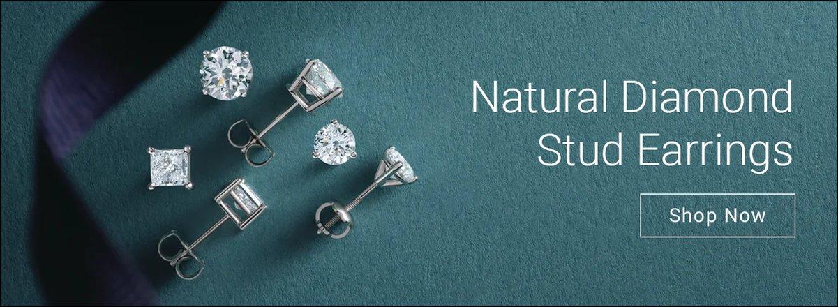 Natural Diamond Studs