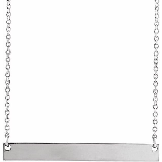 Sterling Silver 34x4 mm Bar 16